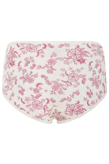 Five Pack Outline Floral Briefs