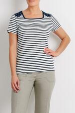 Contrast Shoulder Stripe T-Shirt