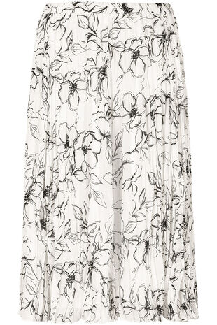 Printed Crinkle Skirt