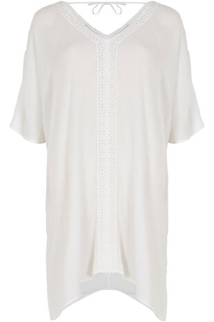 V Neck Kaftan with Lace Detail