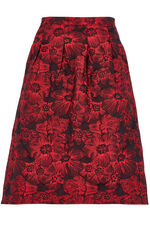 Brocade Box Pleat Skirt