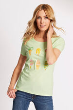 Ice Cream Placement Print T-Shirt