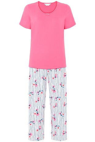 Floral Stripe Print Gift Wrapped Pyjama Set