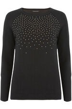 Lightweight Jumper with Stud Detail