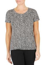 Teardrop Style Print T-Shirt
