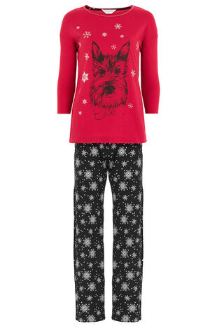 Scotty Top Snowflake Pant PJ