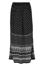 Border Crinkle Maxi Skirt