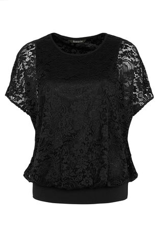 David Emanuel Blouson Lace Top