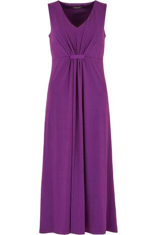 Tab Front Jersey Maxi Dress