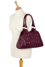 Mock Croc Textured Shoulder Bag