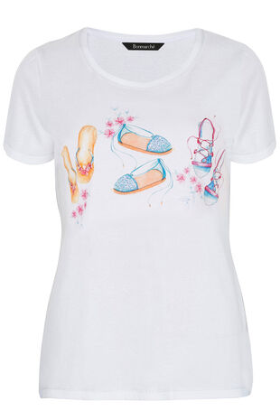 Sandal Placement Print T-Shirt