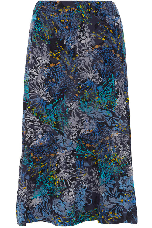 Flock Printed Skirt