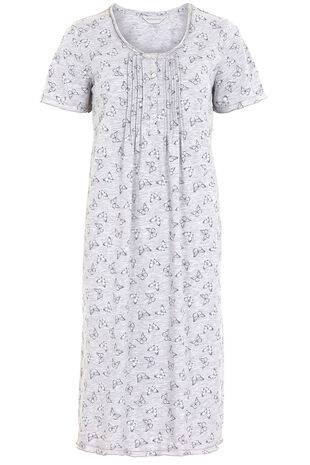 Grey Marl Butterfly Nightdress