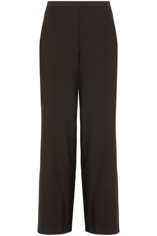Satin Back Crepe Wide Leg Trousers