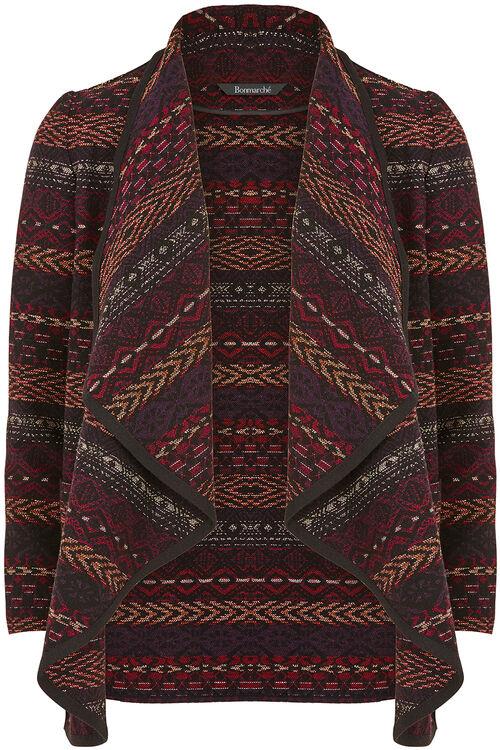 Patterned Blanket Jacket