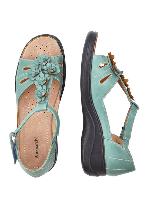 Velcro Floral Sandal