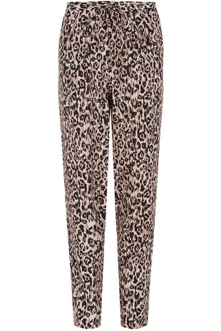 Animal Print Harem Trousers