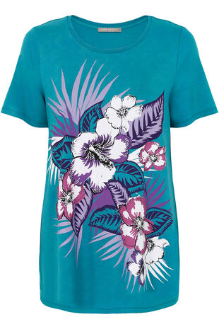 Ann Harvey Tropical Embellished Top