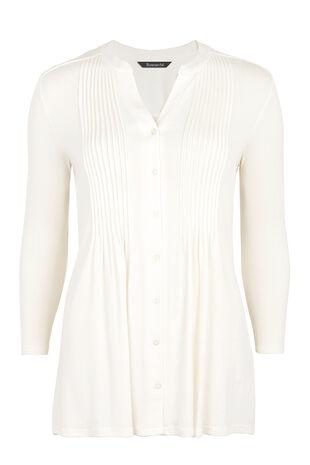 Jersey 3/4 Sleeve Pintuck Shirt