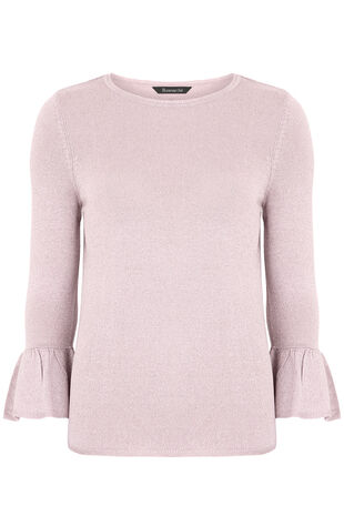 Metallic Frill Cuff Jumper