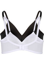 2 Pack Xyh Plain Non Wired Bras