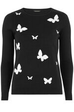 Butterfly Intarsia Jumper