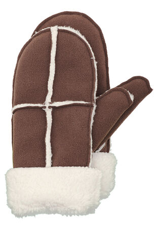 Fleece Faux Shearling Mitten