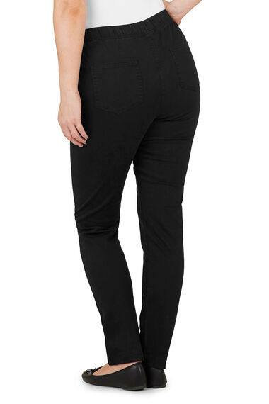 Stretch Cotton Twill Jeggings With Pockets