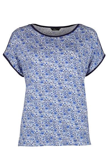 Summer Floral Basketweave T-Shirt