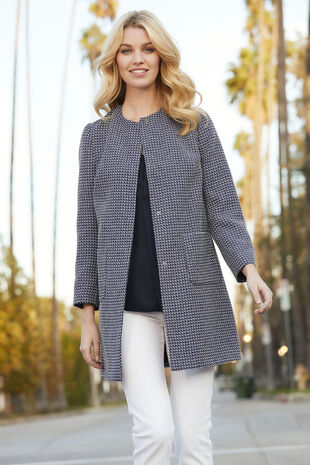 Tweed Longline Jacket