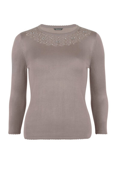Beaded Neck Jumper