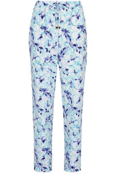 Printed Crepe Harem Trousers
