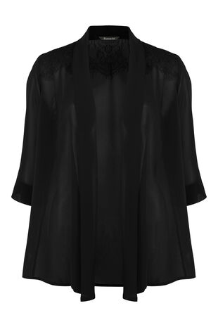 3/4 Sleeve Lace Shoulder Cover-Up