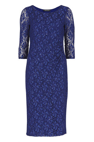 David Emanuel Fitted Lace Dress