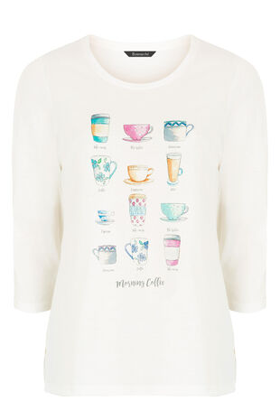Coffee Cup Print T-Shirt