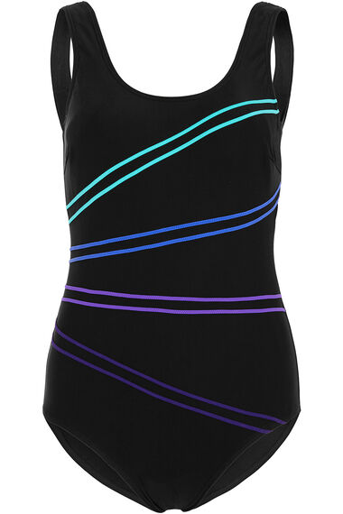 Double Piping Basic Swimsuit