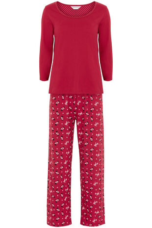 Scotty Print 3/4 Length Sleeve Pyjamas