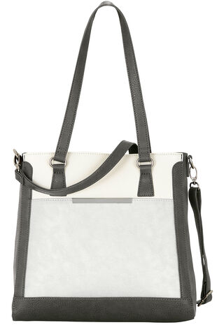 Three Colour Shoulder Bag with Cross Body Strap