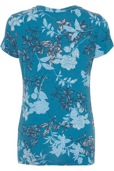 Floral Print V-Neck Top