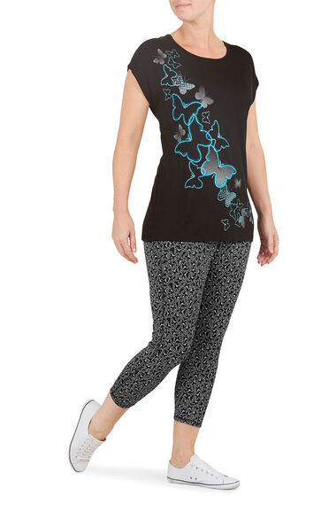 Activewear Butterfly Print Leggings
