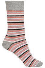 3 Pack Rose Printed Socks