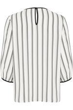Spot Stripe Print Blouse