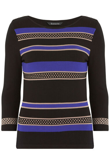 Striped Boat Neck Jumper