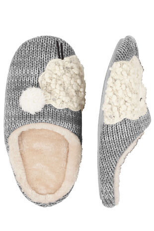 Sheep Detail Closed Toe Mule