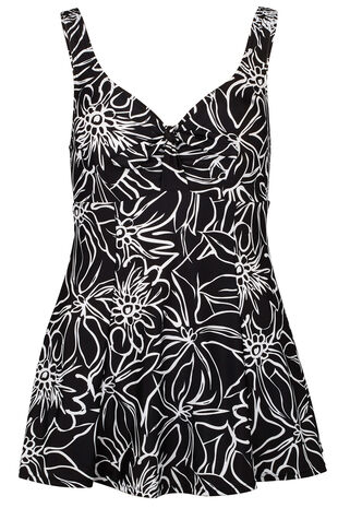 Outline Floral Bow Swimdress