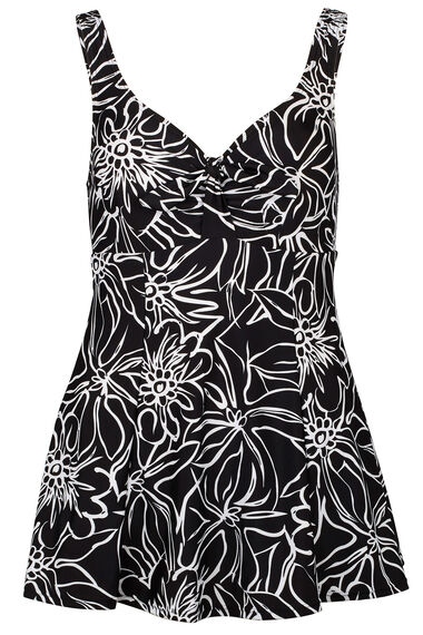 Outline Floral Bow Swimdress