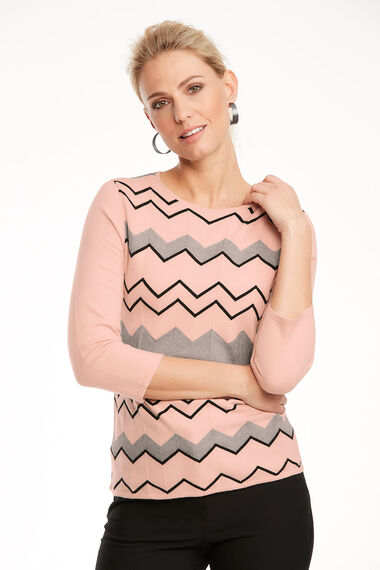 Soft Touch Zig Zag Jumper