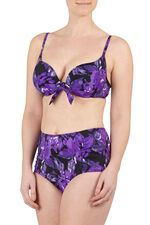 Rose Print Bikini Top