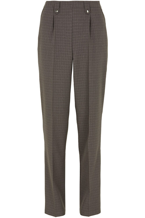 Classic Leg Checked Trousers