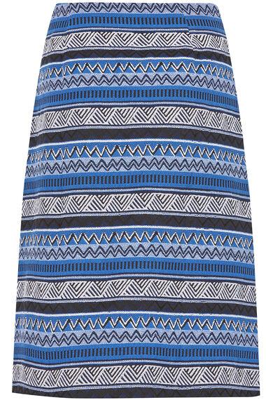 Jacquard A Line Skirt